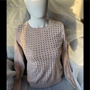 beige round neck blouse